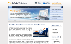 Screenshot of SafeSoft Cloud Contact Center