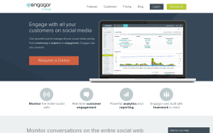 Screenshot of Engagor
