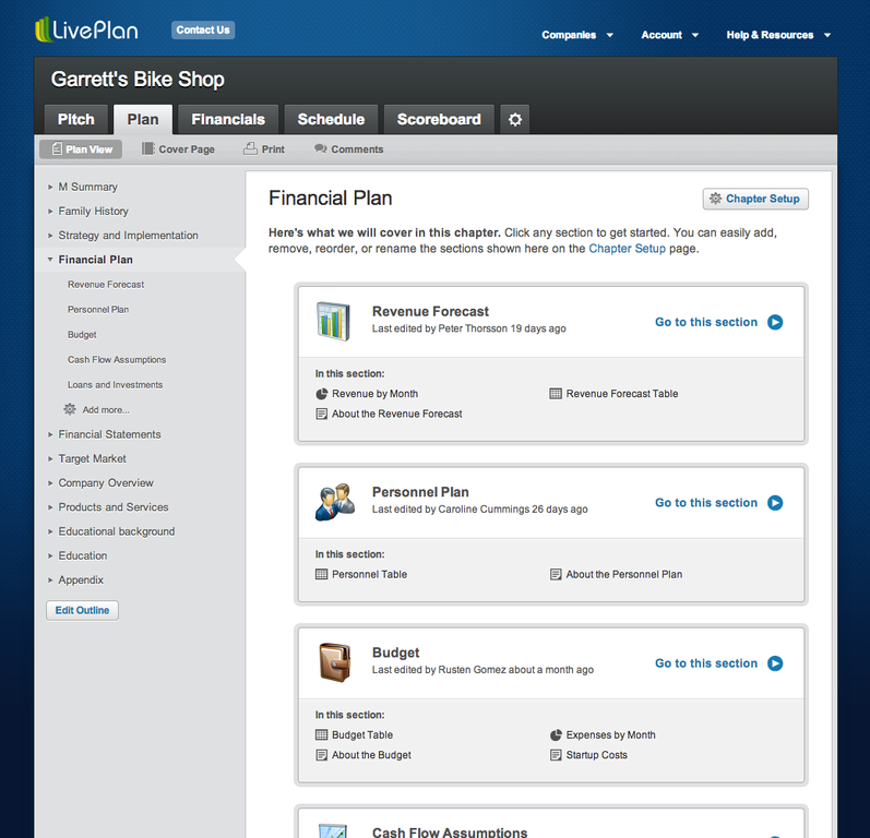 Palo Alto Software LivePlan