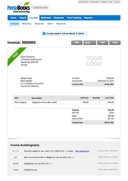 freshbooks invoice template. how do i make an invoice freshbooks, Invoice templates