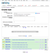 Screenshot #3 of Codility Programming Tests (Test Creation Page)
