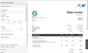 Screenshot #10 of Zoho Invoice (Zoho Invoice - Customize Invoice)
