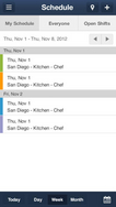 Screenshot #4 of NimbleSchedule (iPhone app - schedule view)