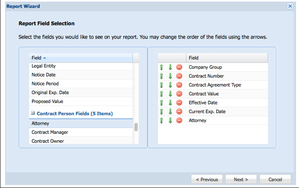 Screenshot #5 of Novatus Contract Management (Report Wizard)