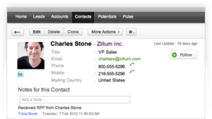 Screenshot #2 of Zoho Applications Suite (Zoho CRM)
