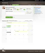 Screenshot of TribeHR (Booking Vacation Time)