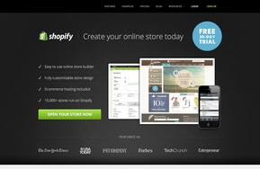 Screenshot of Shopify (Homepage)