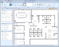 Screenshot #5 of SmartDraw (SmartDraw Floorplan Example)