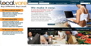 Screenshot #1 of Localvore (Localvore Homepage)