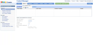 Screenshot of Zoho Creator (Zoho Creator Screenshot)