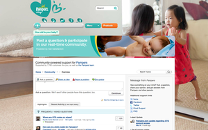 Screenshot #2 of Get Satisfaction (Pampers' Get Satisfaction Community)