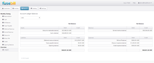 Screenshot #4 of Fusebill  (Ledger Report)