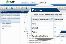 Screenshot of Yurbi (Ad-hoc Report Building)