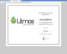 Screenshot #14 of Litmos LMS (Certificate 01)