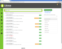 Screenshot #3 of Litmos LMS (Search People Tab)