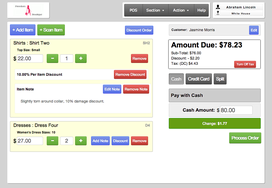 Screenshot #1 of ZingCheckout (Our slick POS screen allows for quick and easy transactions)