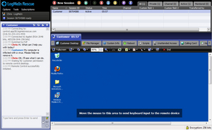 Screenshot of LogMeIn Rescue (Technician Console Screenshot)