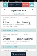 Screenshot of Acuity Scheduling (iPhone/Android Web Application)