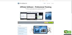 Screenshot #1 of Post Affiliate Pro (Post Affiliate Pro 4 Website)