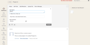 Screenshot #8 of Zoho Projects (Adding a new task in Zoho Projects)