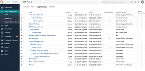 Screenshot #4 of Zoho Projects (Task Dependency)