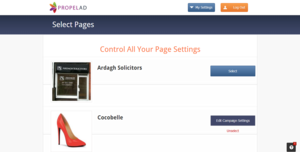 Screenshot of PropelAd (Promote Multiple Facebook pages)