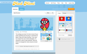 Screenshot of Mad Mimi (Email Composer)