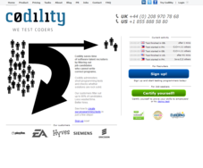 Screenshot #1 of Codility Programming Tests (Homepage)