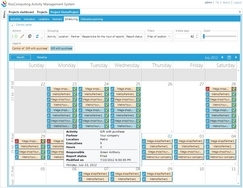 Screenshot of Activity Management System BTL (BTL project schedule (month view))