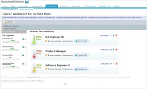 Screenshot of SuccessFactors ()