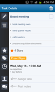 Screenshot of Producteev (Sub-tasks on the Producteev Android app)