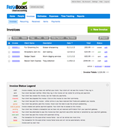 Screenshot #4 of FreshBooks (FreshBooks Invoice List)