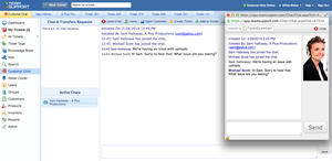 Screenshot #3 of TeamSupport.com (Customer Chat)