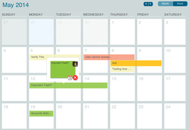 Screenshot #4 of LeanKit (Calendar view easily manages date-dependent work)